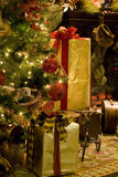 Weihnachtsbaumkamin Lizenzfreie Stockfotos