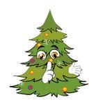 Weihnachtsbaumkarikatur Stockfotografie