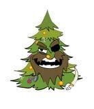 Weihnachtsbaumkarikatur Stockbilder