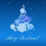 Weihnachtsbaumkarte Lizenzfreie Stockfotos