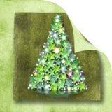 Weihnachtsbaumkarte Lizenzfreie Stockfotografie