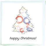 Weihnachtsbaumkarte Lizenzfreies Stockfoto