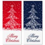 Weihnachtsbaumkarte Lizenzfreie Stockbilder