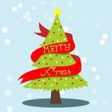 Weihnachtsbaumkarte Stockbild