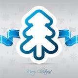 Weihnachtsbaumkarte mit Farbband Stockfoto