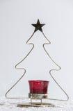 Weihnachtsbaumkerze Lizenzfreies Stockfoto