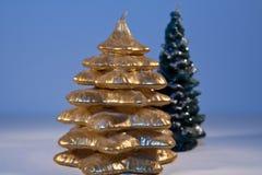 Weihnachtsbaumkerzen Stockbilder