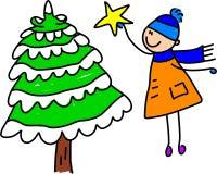 Weihnachtsbaumkind Stockbild