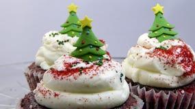 Weihnachtsbaumkleine kuchen lizenzfreie stockfotos