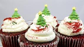 Weihnachtsbaumkleine kuchen stockbilder