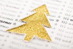 Weihnachtsbaumkonzept und -text Lizenzfreies Stockfoto