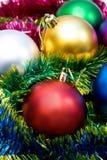 Weihnachtsbaumkugeln Stockbild