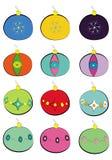 Weihnachtsbaumkugeln Vektor Abbildung