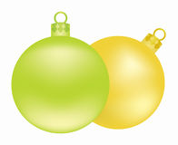 Weihnachtsbaumkugeln Stockfoto