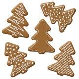 Weihnachtsbaumlebkuchen Lizenzfreies Stockfoto