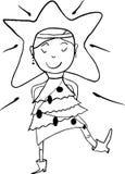 Weihnachtsbaummädchen Lizenzfreie Stockfotografie