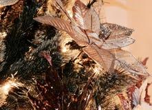 Weihnachtsbaumnahaufnahme - Detail stockfotos