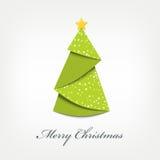 Weihnachtsbaumorigami Stockfotos