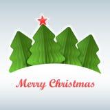 Weihnachtsbaumpapier gefärbt Lizenzfreies Stockbild