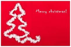 Weihnachtsbaumpostkarte lizenzfreies stockfoto