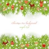 Weihnachtsbaumränder Lizenzfreies Stockbild