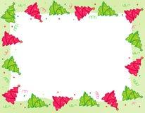 Weihnachtsbaumrand lizenzfreie abbildung