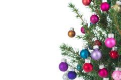 Weihnachtsbaumrand Lizenzfreies Stockbild