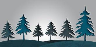 Weihnachtsbaumschattenbild mit Durchschlagspapierdesign Lizenzfreie Stockfotografie
