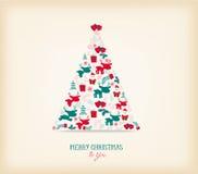 Weihnachtsbaumschmuck mit der Ikone Retro- Lizenzfreies Stockbild