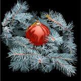 Weihnachtsbaumspielzeug auf den Niederlassungen Stock Abbildung