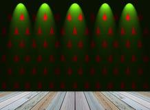 Weihnachtsbaumtapete mit Licht Stockfotografie