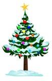 Weihnachtsbaumvektor Lizenzfreies Stockfoto