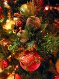 Weihnachtsbaumverzierungen Stockfoto