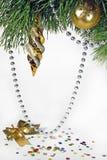 Weihnachtsbaumverzierungen Stockbild