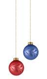 Weihnachtsbaumverzierungen Stockbilder