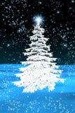 Weihnachtsbaumweiß stock abbildung