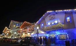 Weihnachtsbeleuchtung in Leavenworth 9 Stockfotos