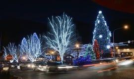 Weihnachtsbeleuchtung in Leavenworth 20 Lizenzfreies Stockfoto