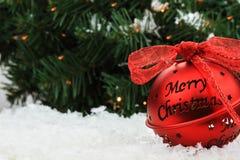 Weihnachtsbell-Verzierung Lizenzfreie Stockbilder