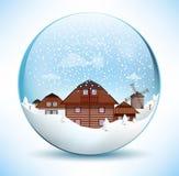 Weihnachtsbereich - altes Dorf Stockfoto