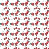 Weihnachtsbeschaffenheit von den Socken Stockfotografie