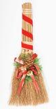 Weihnachtsbesendekorationen getrennt auf Weiß lizenzfreies stockfoto