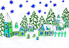 Weihnachtsbild, malend Stockfoto