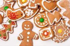 Weihnachtsbiskuitplätzchen Lizenzfreie Stockbilder