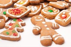 Weihnachtsbiskuitplätzchen Lizenzfreies Stockbild