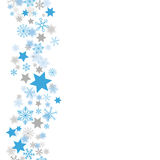 Weihnachtsblau Gray Snowflakes Stars Stardust Lizenzfreies Stockfoto