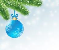 Weihnachtsblauball Stockbild