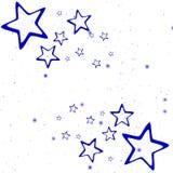 Weihnachtsblaue Sterne Stockfotografie