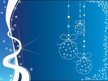 Weihnachtsblauer und weißer Hintergrund Lizenzfreie Stockfotografie