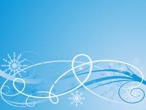 Weihnachtsblauer vektorhintergrund lizenzfreie abbildung
